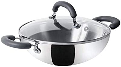 Meyer Trivantage Stainless Steel Triply Cookware Kadai 26cm Medium