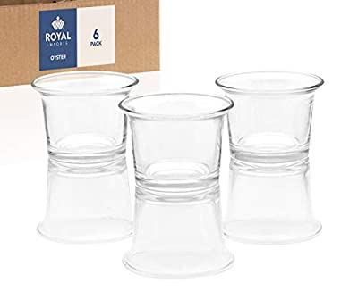 Royal Imports Candle Holder Glass Votive for Wedding, Birthday, Holiday & Home Decoration, Oyster, Set of 6 - Unfilled