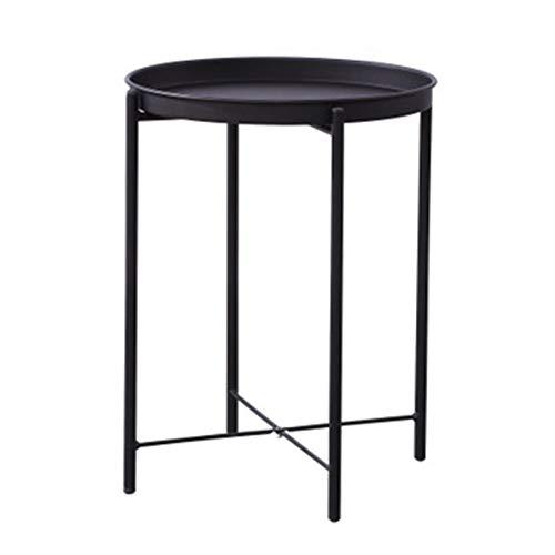 Mesa Auxiliar Tabla redonda del lado de la mesa de la mesa de la mesa de la mesa de la mesa de la mesa de la mesa de la mesa del lado del metal del metal al aire libre y el uso interior para poner peq