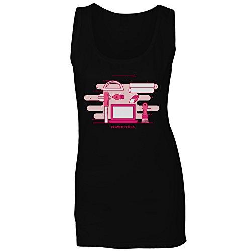 Herramientas Eléctricas De Internet En Línea Camiseta sin Mangas Mujer p531ft