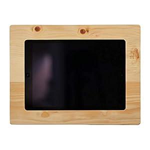 NobleFrames Tablet Wandhalterung für iPad Air1/2, iPad 5, iPad 6 und iPad Pro 9,7″ aus Zirbenholz
