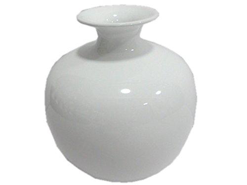 Salsacollection Vase dekorative bauchige Keramikvase Kugelvase in weiß
