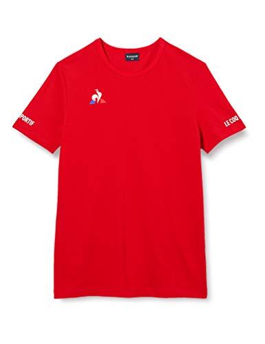 Le Coq Sportif Jungen Tennis Tee SS N°3 Unterhemd, Kinder, Rot, 8A