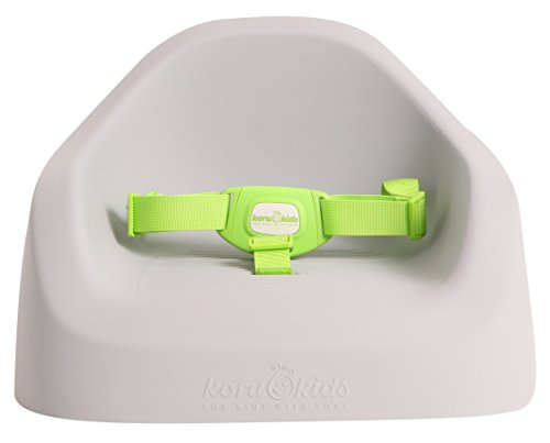 Koru Kids® Toddler Booster - Sitzerhöhung auf Stuhl Stühlen für Baby Kleinkinder Kinder ab 12 Monate bis etwa 6 Jahre Boostersitz Kindersitz - weiche Haptik (Grey)