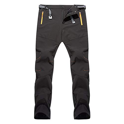 SHOULIEER Fishing Pants Hiking Outdoor Thin Quick Dry Men Summer Breathable Splash Proof Camping Trousers Black 4xl