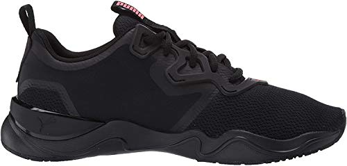 PUMA Women's Zone XT Sneaker, Black-nite Pink Silver, 6.5 M US