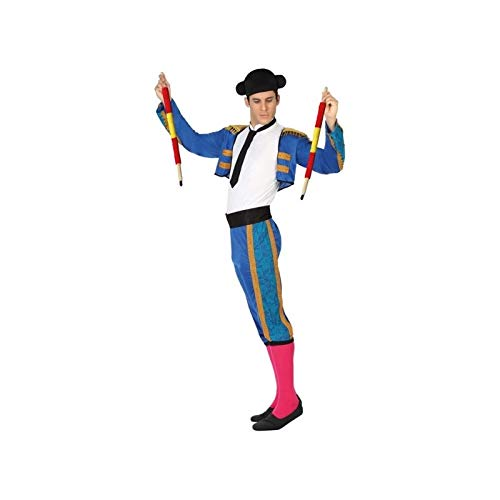Atosa-26810 Atosa-26810-Disfraz Torero-Adulto M a L- Hombre- azul, Color (26810)