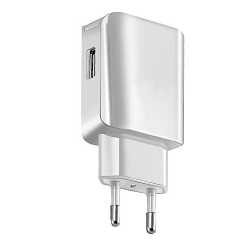 lorjoy Reemplazo para teléfono Android USB Charger Plug 5V 2A Phone AC Travel Wall Adaptador de Corriente de Carga rápida EU Plug (3.5 * 1.8 * 1 (in), Actualizar versión de Carga rápida-Blanco)
