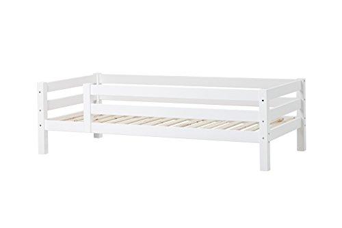 Hoppekids Kinder-/Jugend-/Einzelbett, Kiefer massiv inklusiv Lattenrost, Holz, Weiß, 209 x 99 x 62 cm