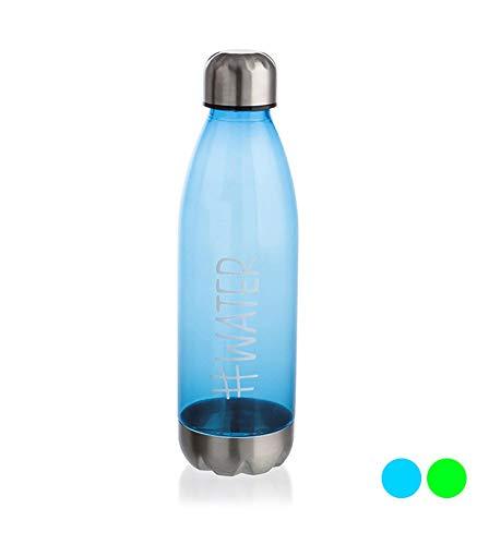 QUID 7829012 Botella con tapón, Azul