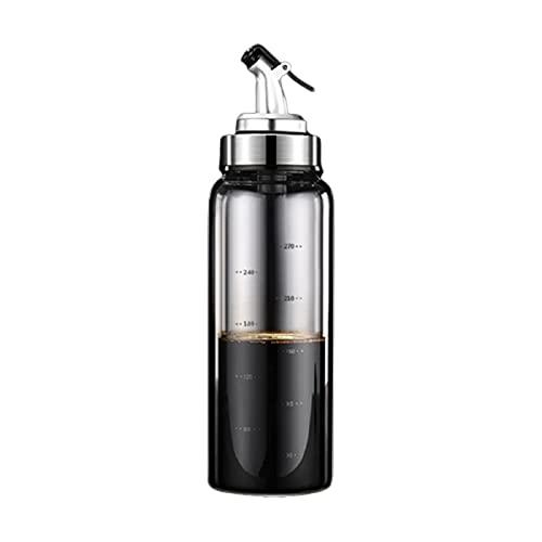 Laoonl - Botella de cristal para aceite de oliva, bote de aceite de vidrio para uso doméstico, botella de salsa de soja con tapa automática, dispensador de aceite y vinagre