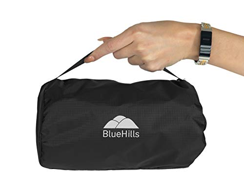BlueHills Ultra Compact Travel Blanket Pillow in Portable...