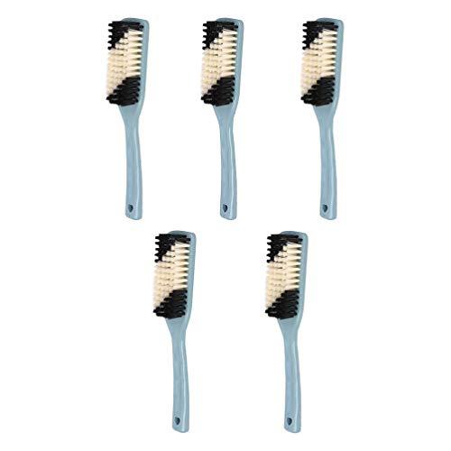 Cabilock 5 Piezas Cepillo de Limpieza Resistente Agarre Cómodo Cepillo de Limpieza de Cocina Cepillo de Lavado de Coche para Baño Lavabo de Ducha Piso de Alfombra (Color Aleatorio)