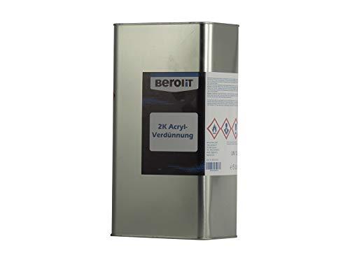 BEROLIT 2K Acrylverdünnung 5,0 Liter 2K Acryl Verdünnung für Autolack