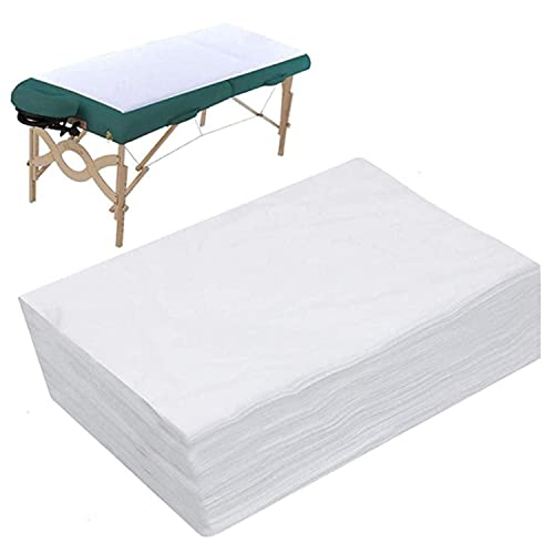 topuhair Disposable nonwoven sheets 20 strips 80cm x 180cm Spa bed sheets disposable massage table sheets waterproof bed cover nonwoven fabric