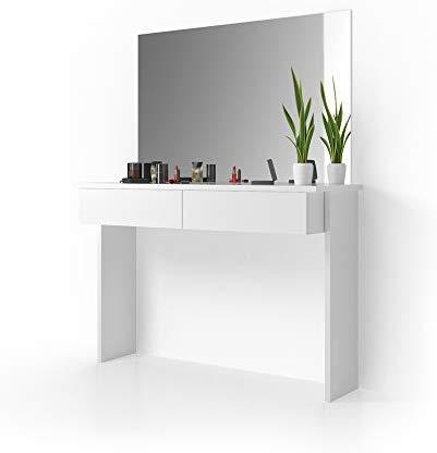 Vicco Schminktisch Azur Frisiertisch Kommode Weiß Hochglanz Frisierkommode Schminkkommode mit Spiegel