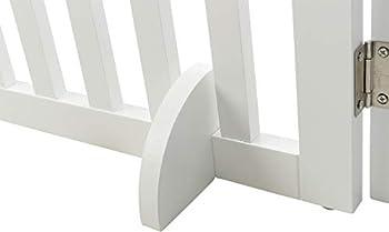 TRIXIE Barrière 3 Parts pour Chien Blanc 82-124 × 61 cm