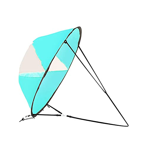 Paleta de Viento a Favor del Viento Canoeing Accesorio Portátil Marine Ultralight Configuración Easy Setup Sports Water Sports Downwind KAYAK Sail Sail Foldable Despliegue rápido ( Color : Blue )