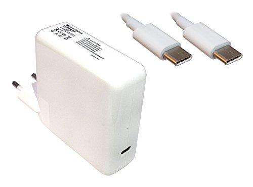 Power4Laptops Adaptador Fuente de alimentación portátil Cargador (Enchufe de la UE) Compatible con Apple MacBook Pro 13 Inch Late 2016