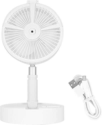 Ventilador multifuncional y elegante retráctil con altura ajustable USB plegable con rociador humectante luz nocturna para el hogar y la oficina
