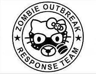 Gas Mask Zombie Outbreak Response Team Hello Kitty Car Window Wall Macbook Notebook Laptop Sticker Decal