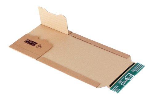 progressPACK Universal-Versandverpackung Premium PP B02.01 aus Wellpappe für CDs, 147 x 129 x bis 55 mm, 20-er Pack, braun
