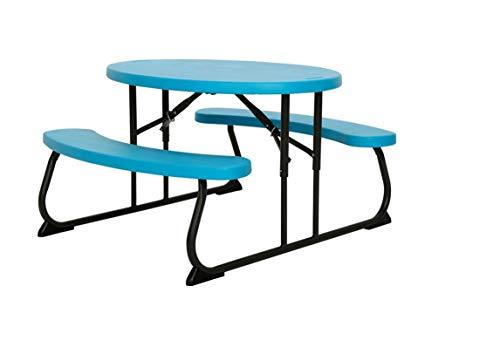 Lifetime 60229 Mesa Plegable Picnic, Resistente, Infantil UV100, Plastic y Steel, Azul, 86 x 17 x 33 cm