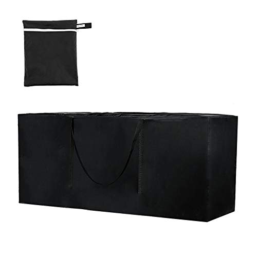 DaricowathX Garden Furniture Cushion Storage Bag Heavy Duty Waterproof 600D Oxford Fabric Rectangle Furniture Seat Protector Cushion Cover with Zipper Christmas Tree Storage Bag( 173*76*51cm Black)