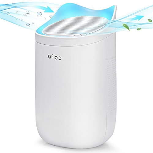 Mini Dehumidifier for Bathroom, Afloia Q3 Portable Dehumidifier 20oz/600ml/165 Sq. Ft, Water Full Auto-Off, Super Compact Quieter Lighter Peltier Dehumidifier for Small Space Bedroom [Cat Ear Design]