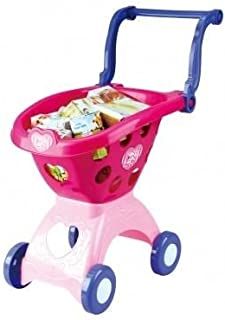 TOY SHOPPING CART PINK