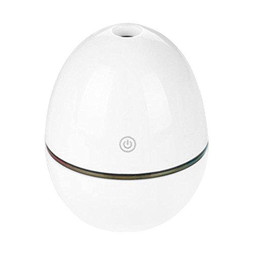 Acamptar USB-LED-luchtbevochtiger voor badkamer, diffuser, stoomreiniger mist, verzorgingsverstuiver, wit