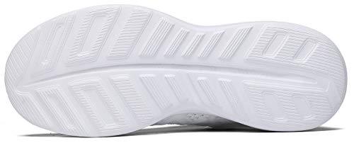 JOOMRA Women Tennis Shoes Lightweight for Nurse Cheer Ladies Gym Jogging Walking Workout Running Fitness Sport Flats Fashion Sneakers White Size 10