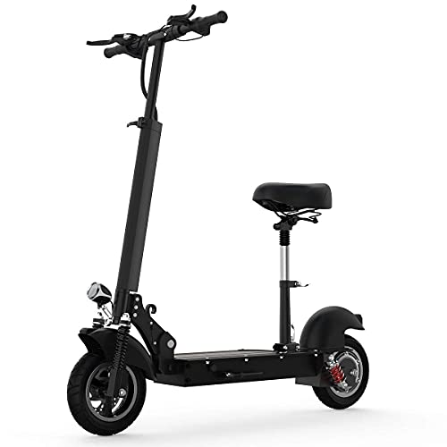 TODIMART Electric Scooter for Adults, Powerful 500W Motor Max Speed 28 MPH, 36V 10AH Battery Up to 19 Miles Long Range, Foldable UL Certified Electric Scooter with Removable Seat Dual Braking System