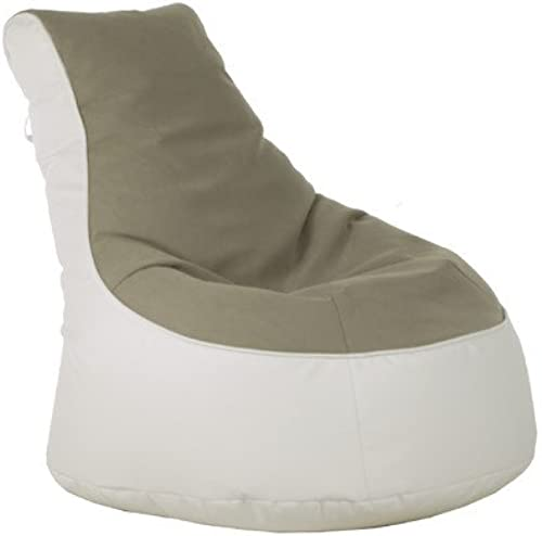 Sitzsack Lotos-Genua Farbe (Genua)  Beige, Farbe (Lotos)  Weiß
