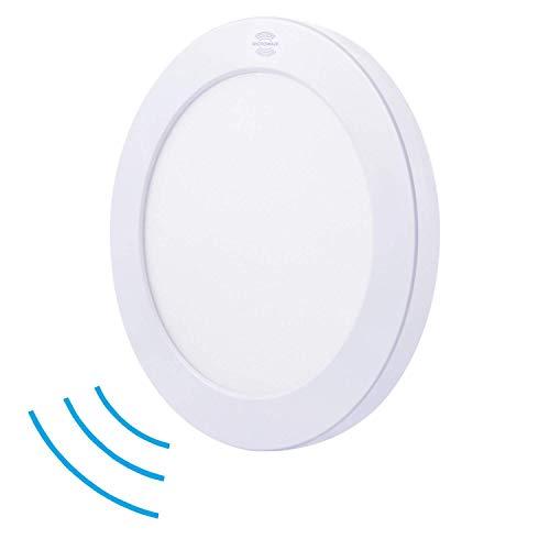 Tevea LED Plafoniera Ultra Piatta 230V | installazione ad incasso | installazione superficiale| 3 colori bianchi per bottone | sensore opzionale (225mm - 18W)