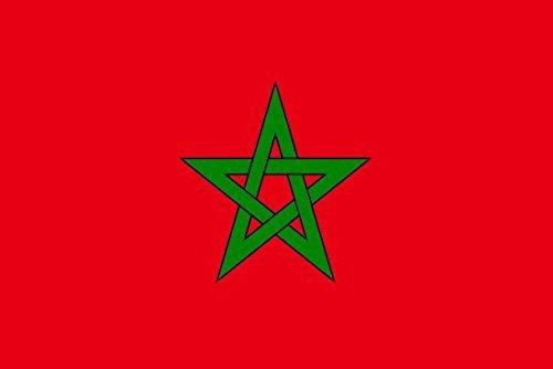 jhgfd7523 Bandera de Marruecos, 1,50 x 0,90 m, 100% poliéster, ojales de metal, doble costura