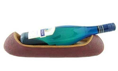 Canoe Wine Bottle Holder, 14-inch