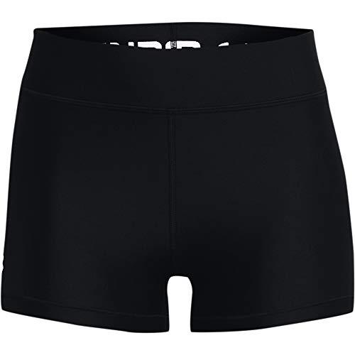 Under Armour Pantalones Cortos Heatgear Armour Mid Rise Short para Mujer, Mujer, Pantalones Cortos, 1360925-001, Multicolor Black White 001, Large
