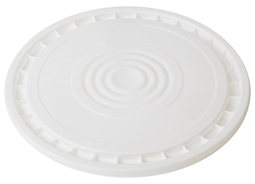Hudson Exchange Wiederverwendbarer Easy Peel Deckel für Eimer von 3,5, 5, 6 und 2,7 l, Weiß