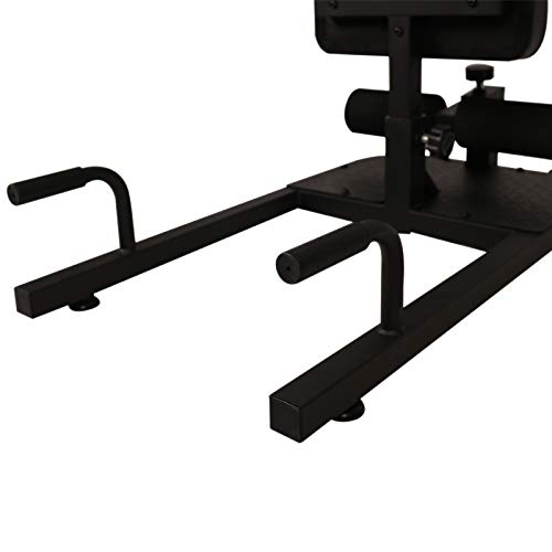 Soozier 3-in-1 Padded Push Up Sit Up Deep Sissy Squat Machine Home Gym Fitness Equipment, Black