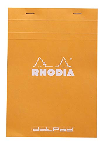 Rhodia Staplebound Notepads - Dots 80 sheets - 6 x 8 1/4 in. - Orange cover