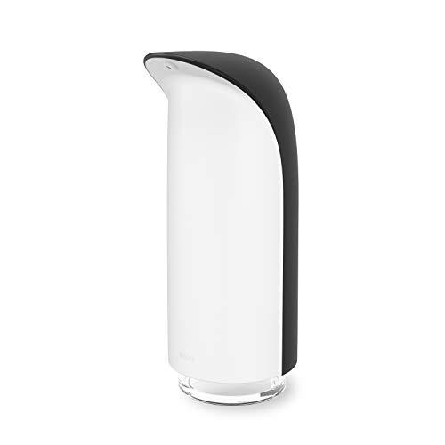 UMBRA Dispensador de jabón Emperor, 325 ml, jabón líquido, desinfectante de Manos, dispensador de detergente, Negro/Blanco, Talla única