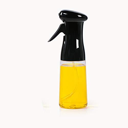 J&Y Olivenöl Sprayer, dicht Öltopf, transparent Essigflasche Ölspender, für Grill/Salat/Backen/Braten Küche,Schwarz