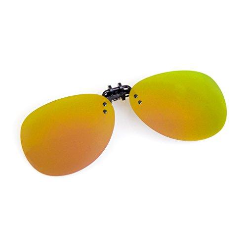 Cyxus aviador flash polarizado reflejado lentes clásico gafas de sol Gafas con clip [Anti reflejante] Protección uv, para conducción/pesca, Unisexo(Hombres y mujeres) Oro