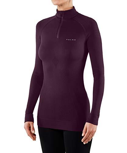 FALKE Damen Maximum Warm Zip W LS SH Langarmshirt, Rot (Scarlet), M