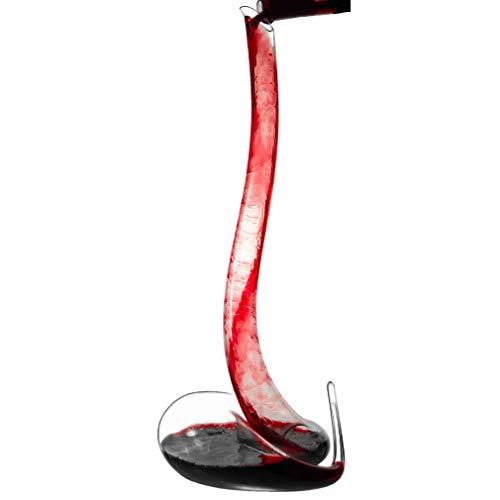 VATRIO Decanter per Vino, Vetro soffiato a Mano 100% Senza Piombo, caraffa a Forma di Serpente per Vino Rosso da 1,5 Litri, aeratore per Vino con Base Larga, Filtro per rinforzare l'artigianato