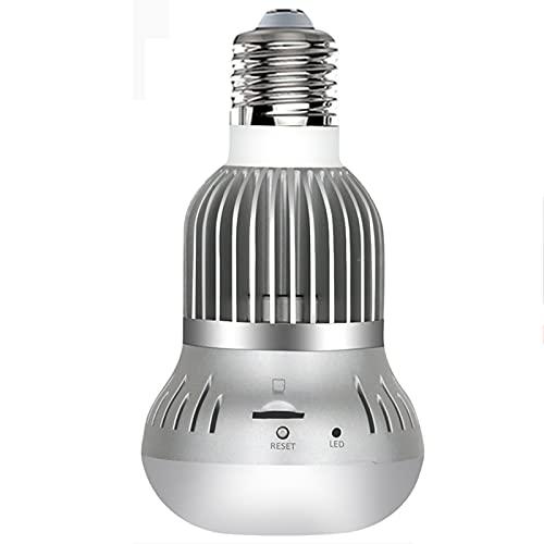 E27 LED Cámara de bombilla LED, Panorámica Lente de ojo de pez WiFi Lámpara inalámbrica 1080P HD IR IR Visión nocturna VR Cámara IP Monitor Smart Security Vigilancia,Camera 32g