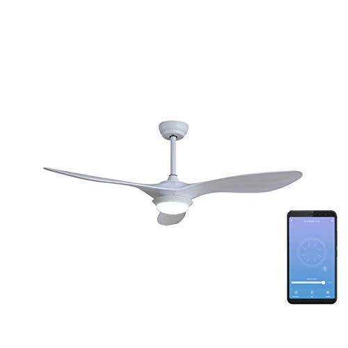 SPC Conforto DC – Ventilador Inteligente Wi-Fi Modo Verano e Invierno Smart Compatible con Amazon Alexa y Google Home, Blanco, Grande