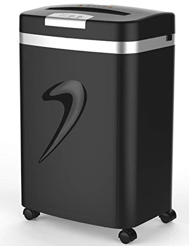 Shredder for Home,Electric Shredder Strip Cut Shredding Card Document Large 20 Litre Bin Machine Home Office 30-Minute Heavy Duty Continuous Run Time