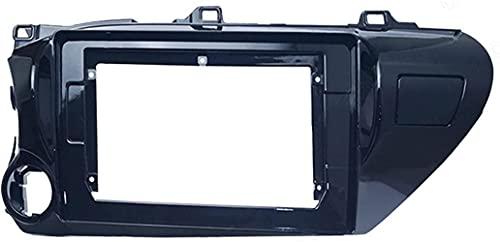 Car Fascia Car Audio Radio 10.1 Pulgadas 2 DIN Fascia Marco Adaptador Apto para Toyota Hilux 2018 (LHD) Reproductor de CD/DVD Panel estéreo Tablero de Ajuste Sencillo